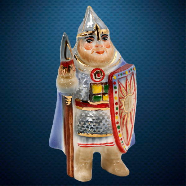 Фарфоровая елочная игрушка из серии СОЛДАТИКИ Фарфоровая Мануфактура БОГАТЫРЬ