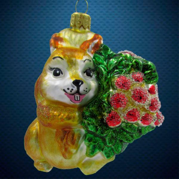 Елочная игрушка Белочка с рябиной, Irena Co