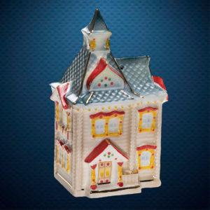 Фарфоровая елочная игрушка из серии Домики Фарфоровая Мануфактура Русский Терем