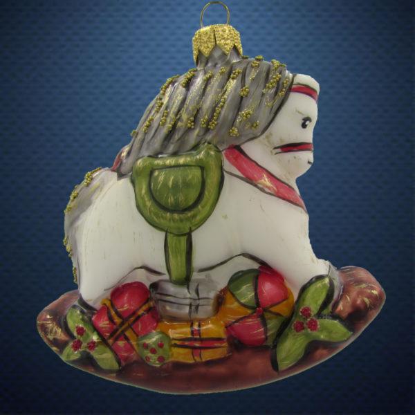 Елочная игрушка Лошадка-качалка винтаж, Irena Co