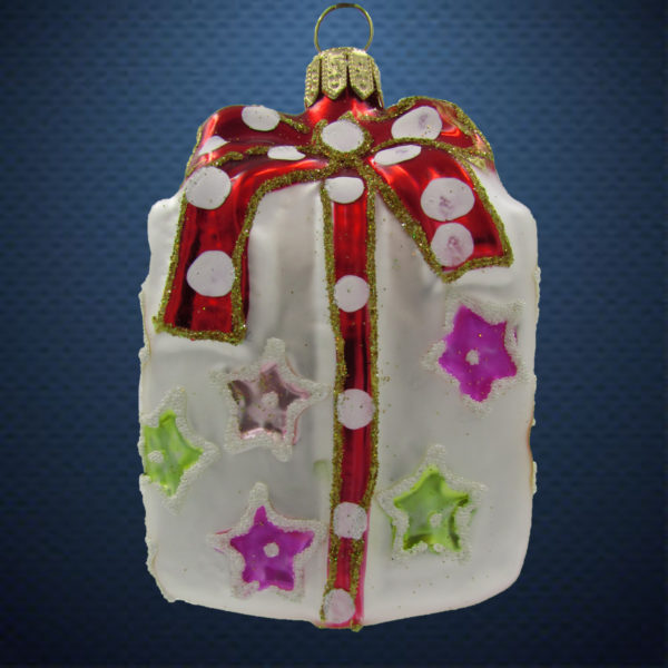 Елочная игрушка Подарок со звездами, Irena Co