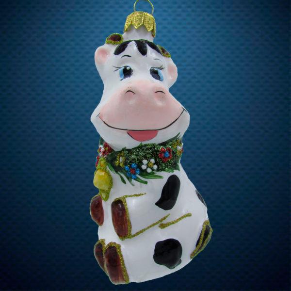 Елочная игрушка Корова в веночке, Irena Co
