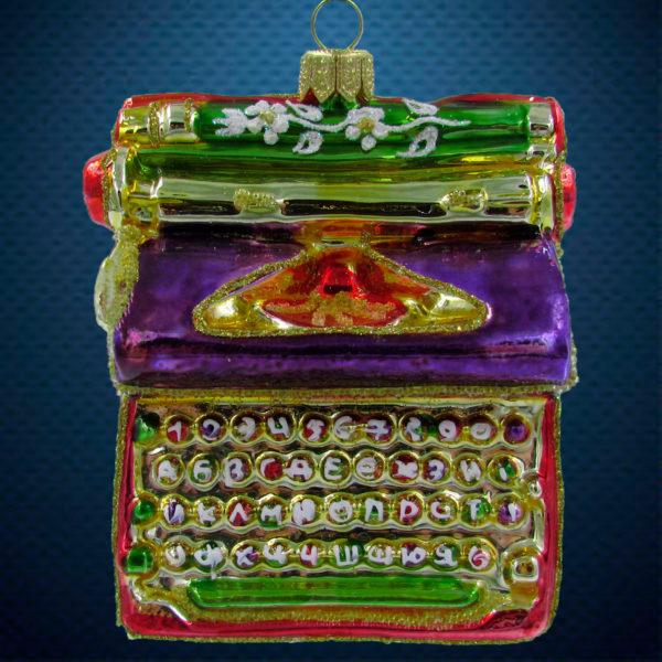 Елочная игрушка Печатная машинка, Irena Co