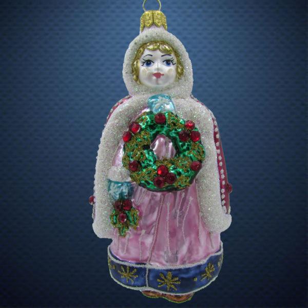Елочная игрушка Девочка с веночком Irena Co