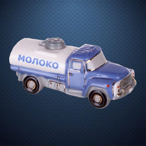 Фарфоровая елочная игрушка из серии РЕТРОТЕХНИКА Фарфоровая Мануфактура ЦИСТЕРНА МОЛОКО