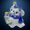 Елочная игрушка Мышка с подарком, Irena Co