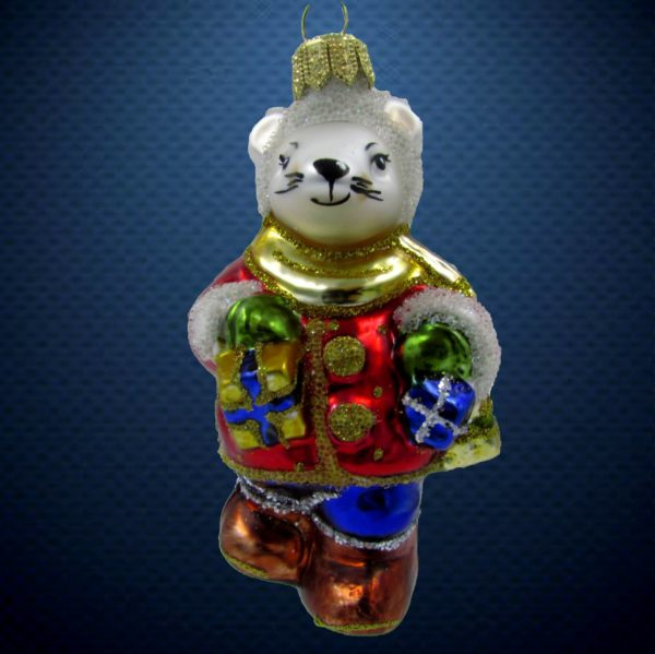 Елочная игрушка Мышонок с подарками, Irena Co